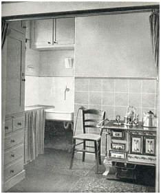 """Eingerichtete Kochnische unserer Wohnungen """"An den Bleichen"""""""